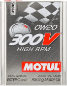 Моторное масло Motul 300V High RPM 0w20 2л